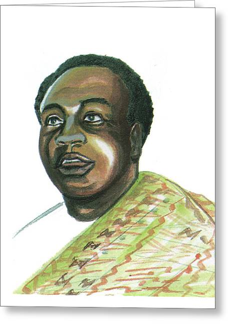 Emmanuel Baliyanga Greeting Cards - Kwame Nkrumah Greeting Card by Emmanuel Baliyanga