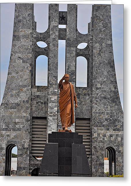Kwame Greeting Cards - Kwame Nkrumah Statue and Mausoleum Greeting Card by Terry Pridemore