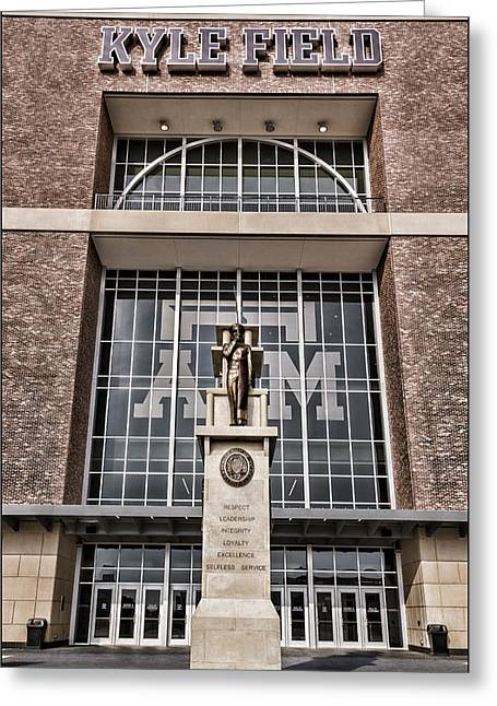 Kyle Field Greeting Card by Stephen Stookey