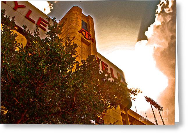 Texas A Greeting Cards - Kyle Field Sunset Aggieland Greeting Card by Chuck Taylor