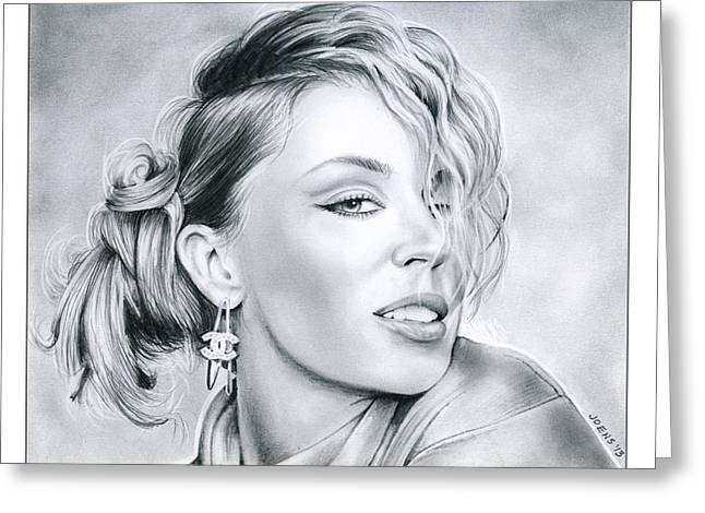 Kylie Minogue Greeting Card by Greg Joens