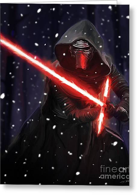Kylo Ren Greeting Card by Paul Tagliamonte