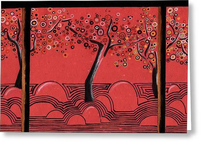 Kyoto Drawings Greeting Cards - Kyoto Greeting Card by   KliKaMi
