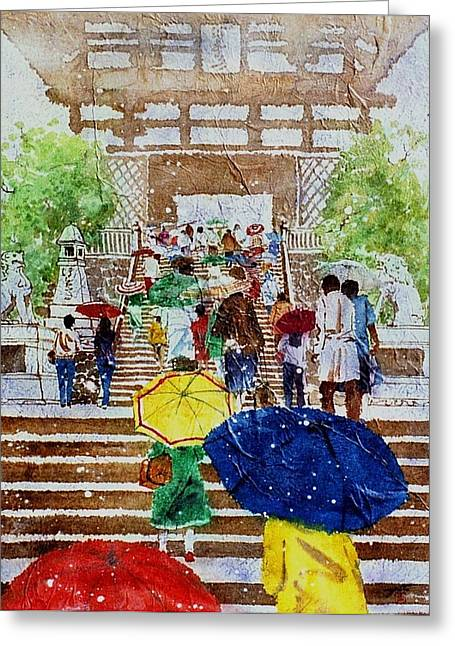 Kyoto Japan Greeting Card by John YATO