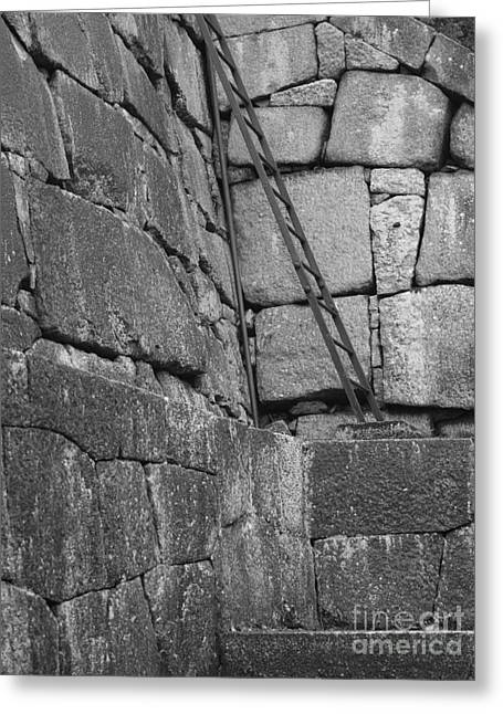 Step Ladder Greeting Cards - Kyoto Palace Stone Wall Greeting Card by Carol Groenen