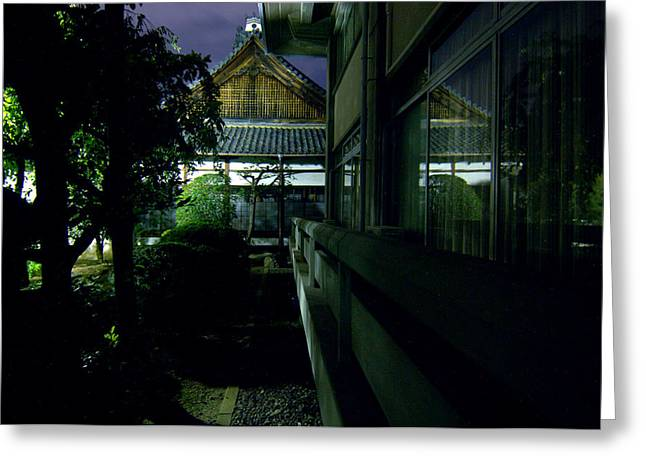 Kyoto Greeting Cards - Kyoto Temple Greeting Card by Mike Lindwasser Photography