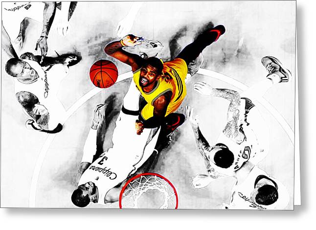 Kyrie Irving Greeting Card by Brian Reaves