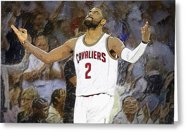 Artest Houston Rockets Greeting Cards - Kyrie Irving Greeting Card by Semih Yurdabak