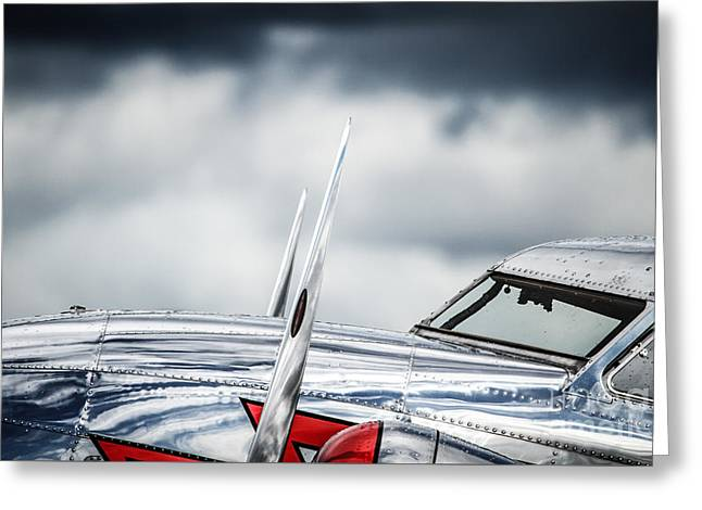 Lockheed Electra Greeting Cards - L-12 After Storm Greeting Card by Karim Hussain