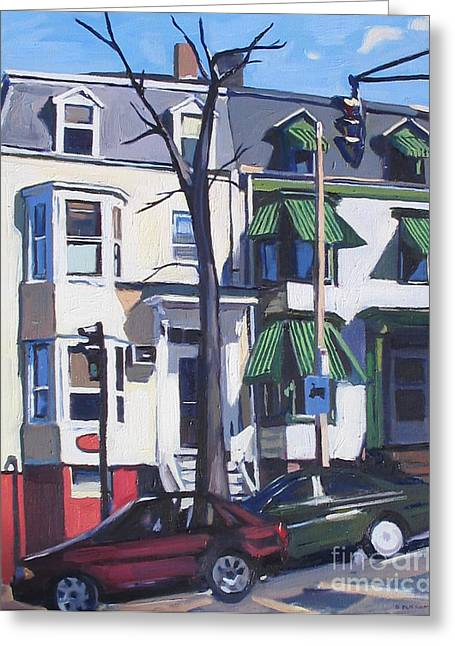 L And Broadway Greeting Card by Deb Putnam