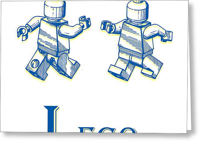 Lego Greeting Cards - L is for Lego Greeting Card by Edward Fielding