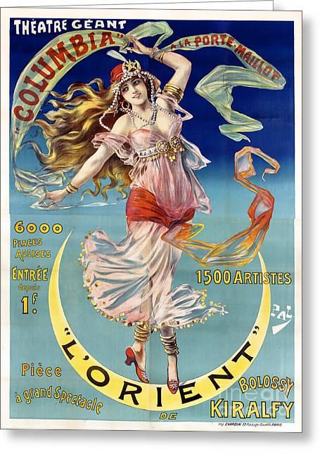 Art Nouveau Photographs Greeting Cards - L Orient Greeting Card by Jon Neidert