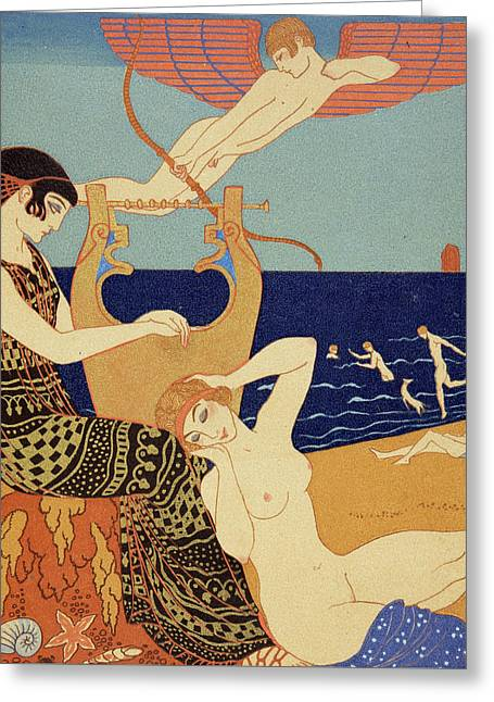 La Bague Symbolique Greeting Card by Georges Barbier