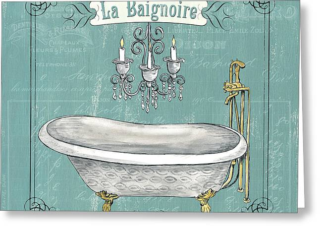 Ink Drawing Greeting Cards - La Baignoire Greeting Card by Debbie DeWitt
