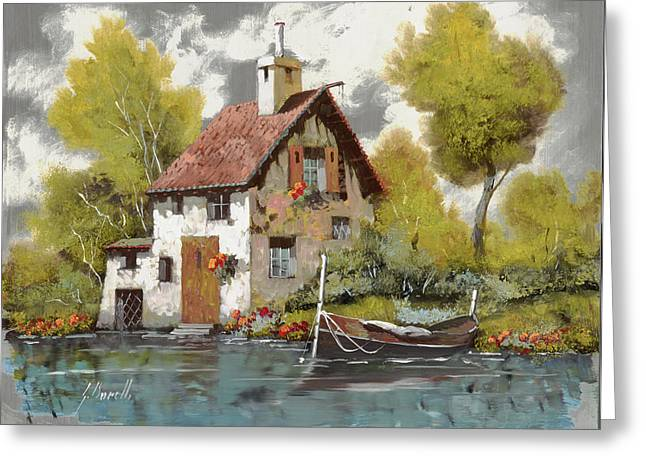 Jewelry Greeting Cards - La Barca Greeting Card by Guido Borelli