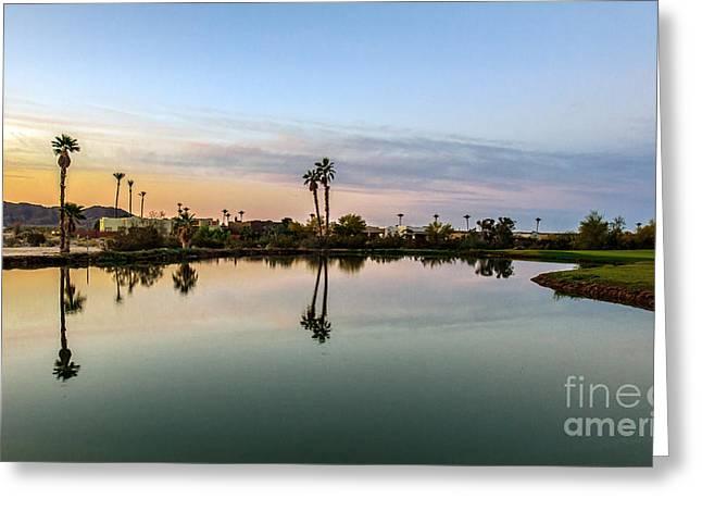 Yuma Greeting Cards - La Barrancas Golf Course Greeting Card by Robert Bales