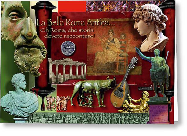 Relief Sculpture Greeting Cards - La Bella Roma Antica Greeting Card by Dean Gleisberg
