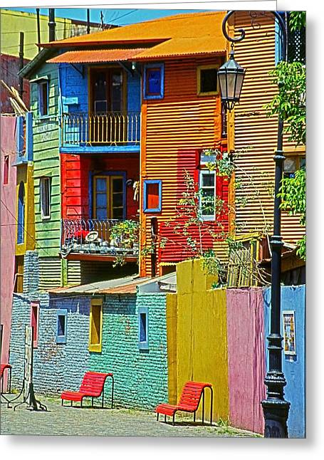 Farbenfroh Greeting Cards - La Boca - Buenos Aires Greeting Card by Juergen Weiss