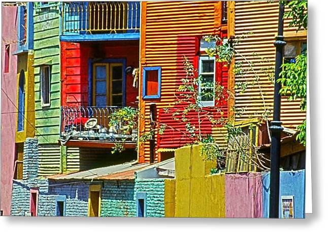 La Boca - Buenos Aires Greeting Card by Juergen Weiss