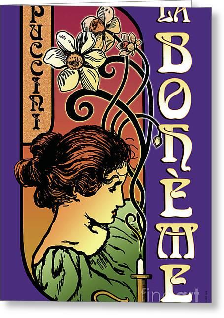 Opera Greeting Cards - La Boheme Greeting Card by Joe Barsin