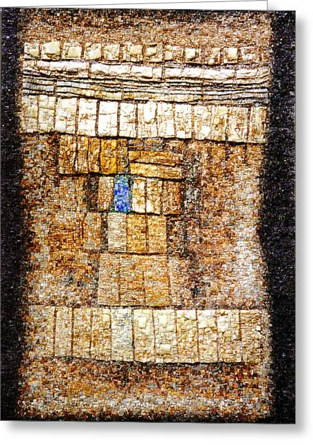 Mosaic Reliefs Greeting Cards - La Case Verte mosaic Greeting Card by James LeGros