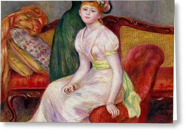 La Coiffure Greeting Card by Renoir