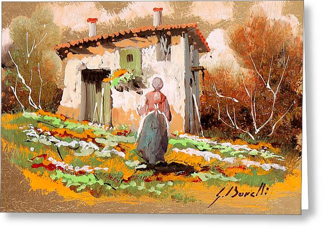 La Donzelletta Greeting Card by Guido Borelli
