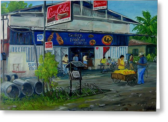 0sa Peninsula Greeting Cards - La Esquina Greeting Card by Michael Cranford