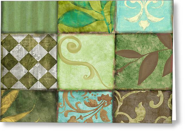 Checkerboard Greeting Cards - La Fleurs de la Terre II Greeting Card by Mindy Sommers