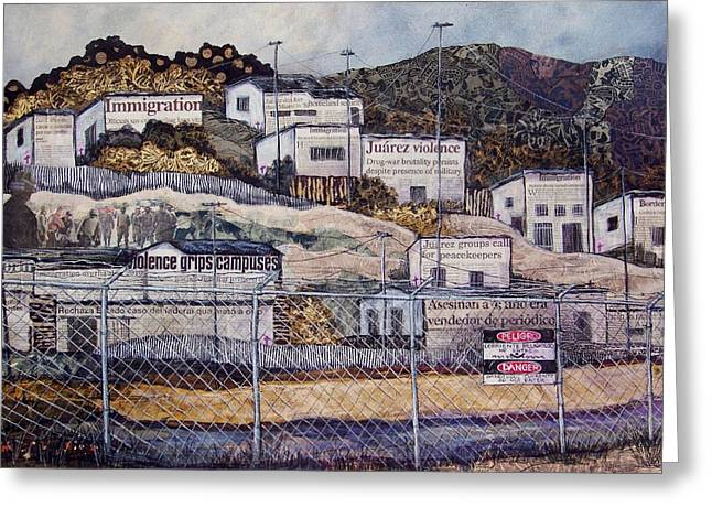 La Frontera Greeting Card by Candy Mayer