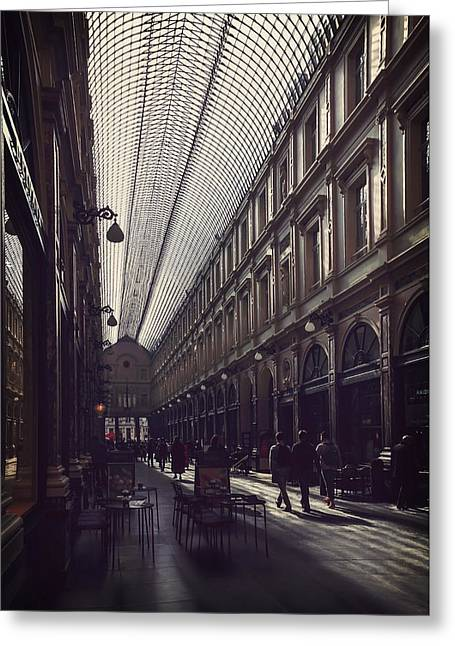 Charismatic Greeting Cards - Les Galeries Brussels Greeting Card by Carol Japp