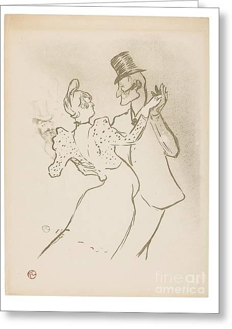 La Goulue Delteil  Greeting Card by MotionAge Designs