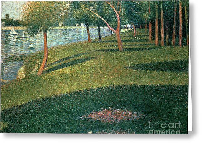 Georges Pierre Greeting Cards - La Grande Jatte Greeting Card by Georges Pierre Seurat