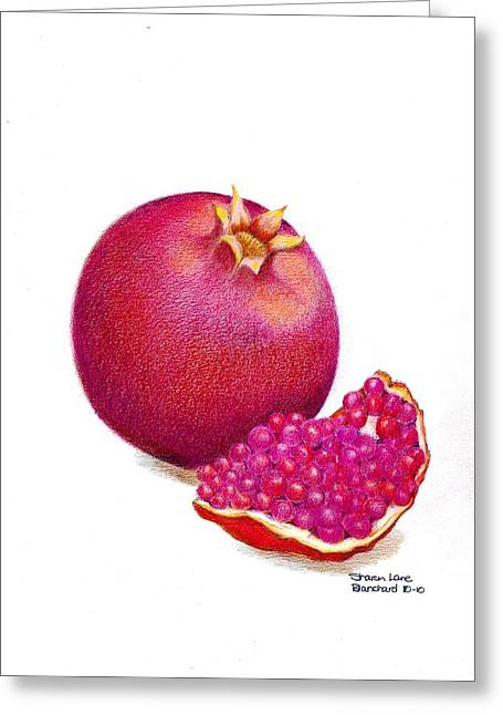 Culinary s Drawings Greeting Cards - La Grenade Greeting Card by Sharon Blanchard