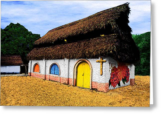 Gaphic Greeting Cards - La Iglesia Pequena Greeting Card by Paul Wear