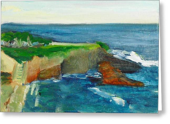 Paintng Greeting Cards - La Jolla Cove 021 Greeting Card by Jeremy McKay