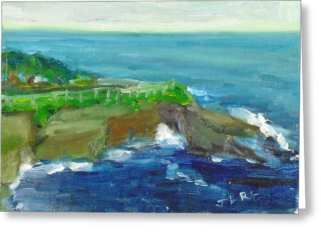 Paintng Greeting Cards - La Jolla Cove 024 Greeting Card by Jeremy McKay