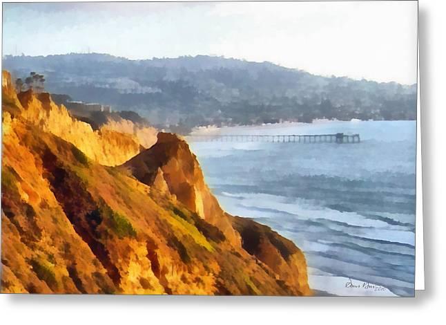 Seaside Digital Greeting Cards - La Jolla Glider Greeting Card by Russ Harris