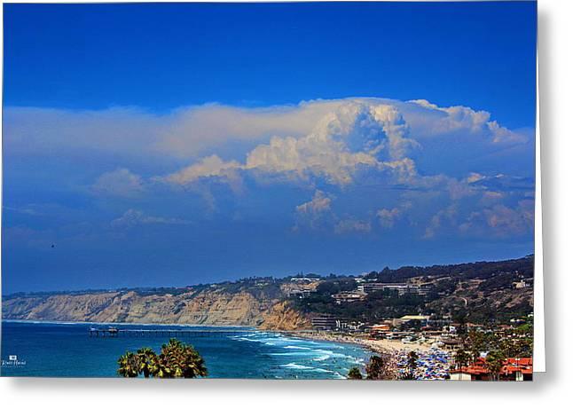 Sandy Beaches Greeting Cards - La Jolla Shores Thunderhead Greeting Card by Russ Harris