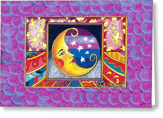 Luna Digital Greeting Cards - La Luna 1 Greeting Card by John Keaton