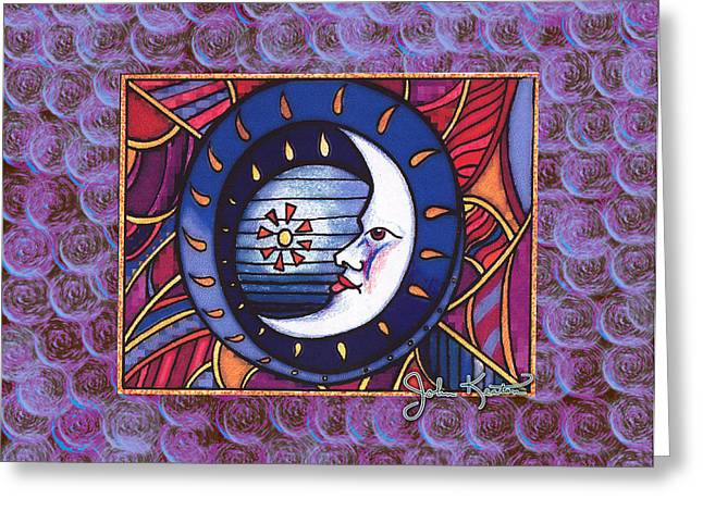 La Luna 2 Greeting Card by John Keaton