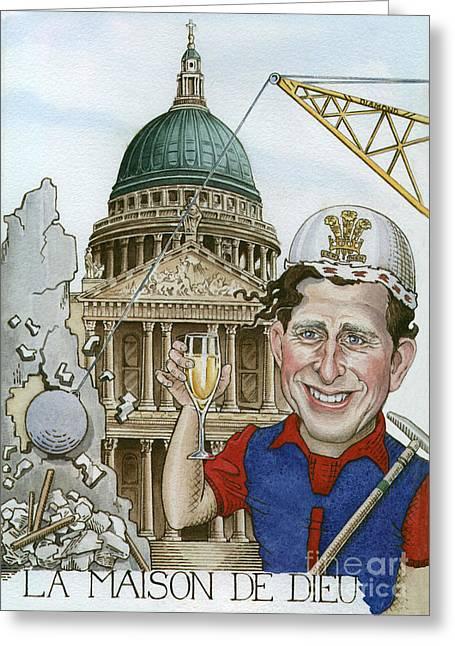 La Maison De Dieu Greeting Card by Debbie  Diamond