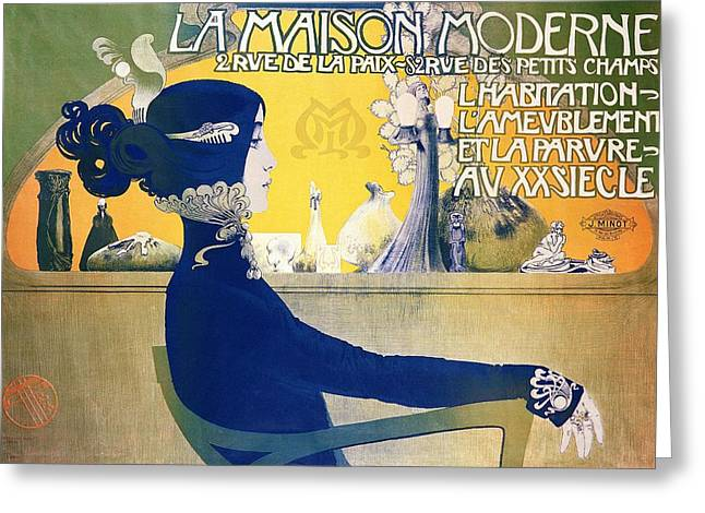 La Maison Moderne Greeting Card by Manuel Orazi