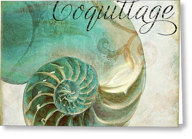 Beach House Paintings Greeting Cards - La Mer I Greeting Card by Mindy Sommers