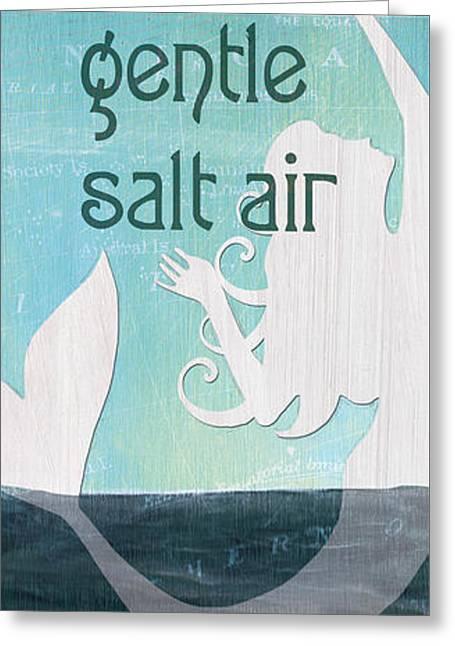 La Mer Mermaid 2 Greeting Card by Debbie DeWitt
