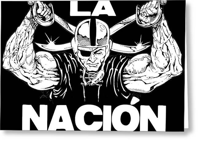La Nacion Greeting Card by Brian Child
