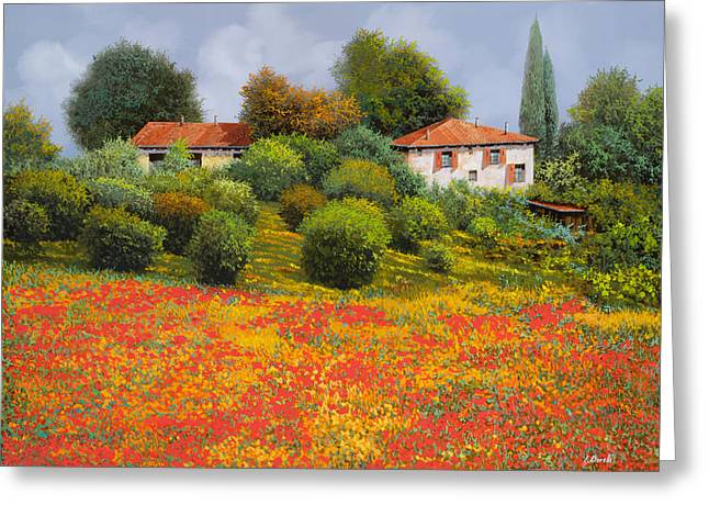 Cypress Greeting Cards - La Nuova Estate Greeting Card by Guido Borelli
