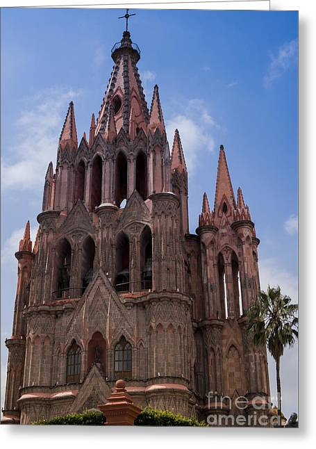 La Parroquia De San Miguel Arcangel In San Miguel Mexico Greeting Card by Juli Scalzi