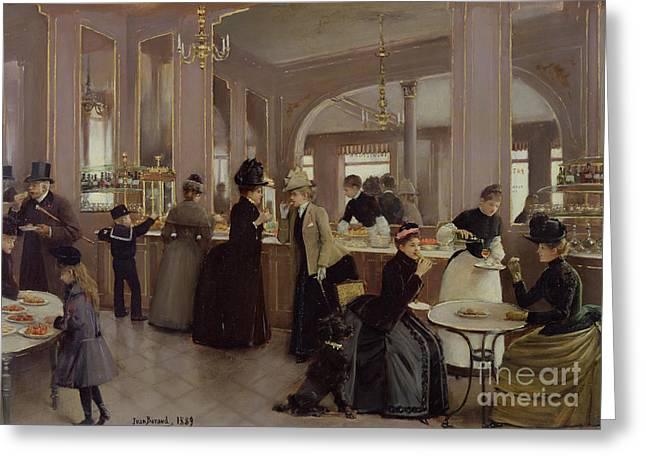 La Patisserie Greeting Card by Jean Beraud