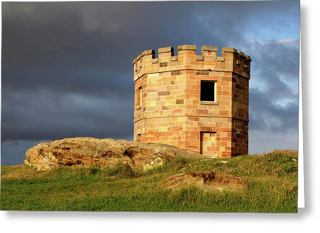 La Perouse Watch Tower Greeting Card by Nicholas Blackwell